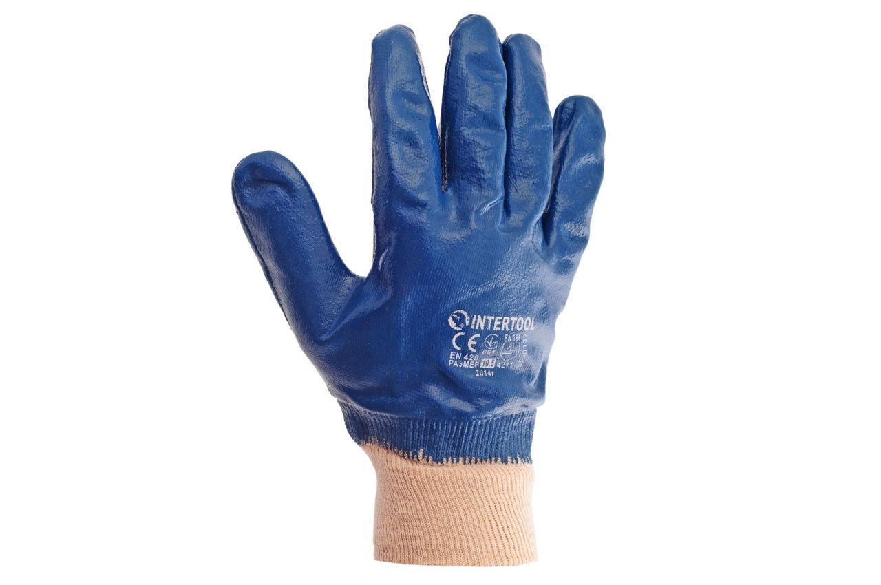 Перчатки Intertool - масло-бензостойкие с мягким манжетом 2
