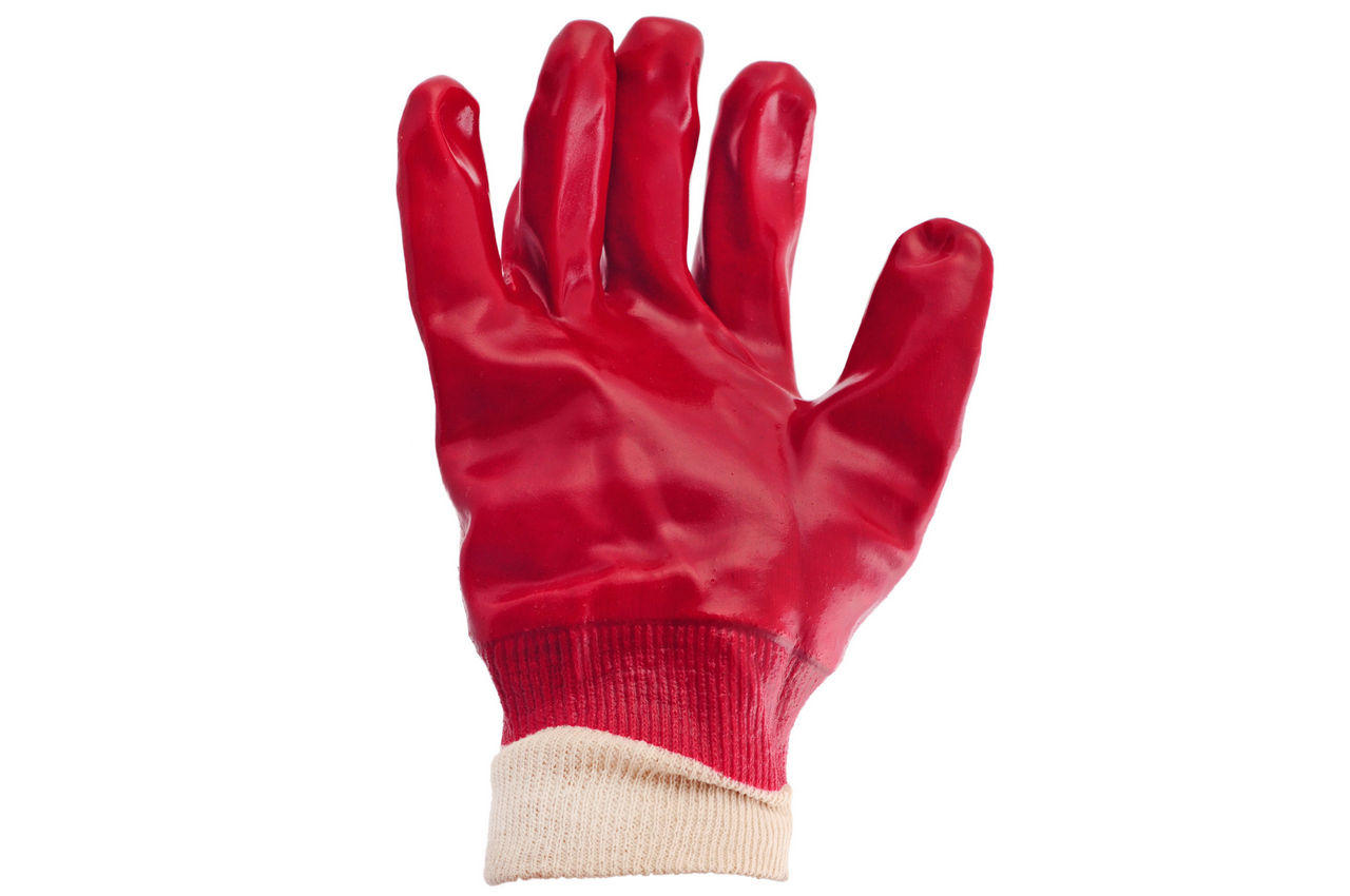 Перчатки Intertool - маслостойкая 26 см х 10,5 (красная) 1