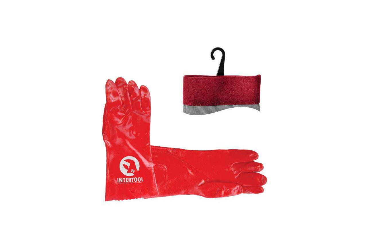Перчатки Intertool - масло-бензостойкие 35 см х 14 2