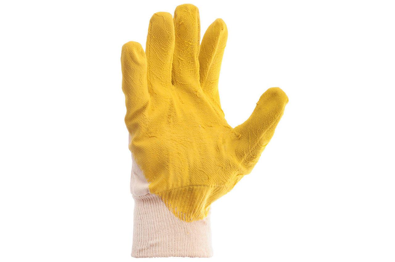 Перчатки Intertool - стекольщика латексная 10,5 (желтая) 1