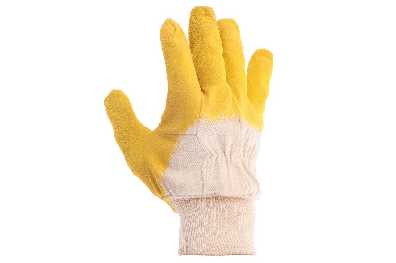 Перчатки Intertool - стекольщика латексная 10,5 (желтая) 2