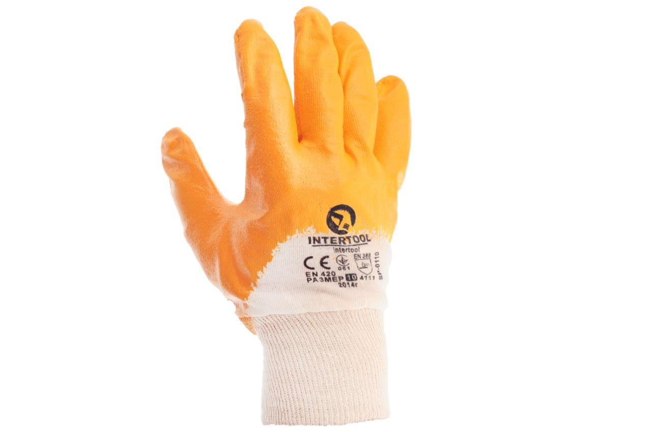 Перчатки Intertool - нитрил 8 2
