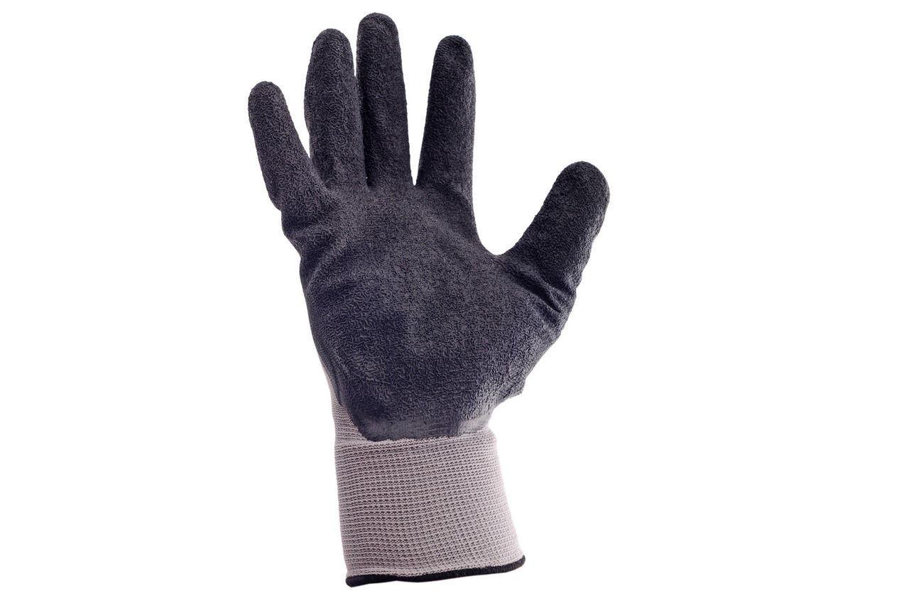 Перчатки Intertool - латексные рифленые 10 12 шт. 1