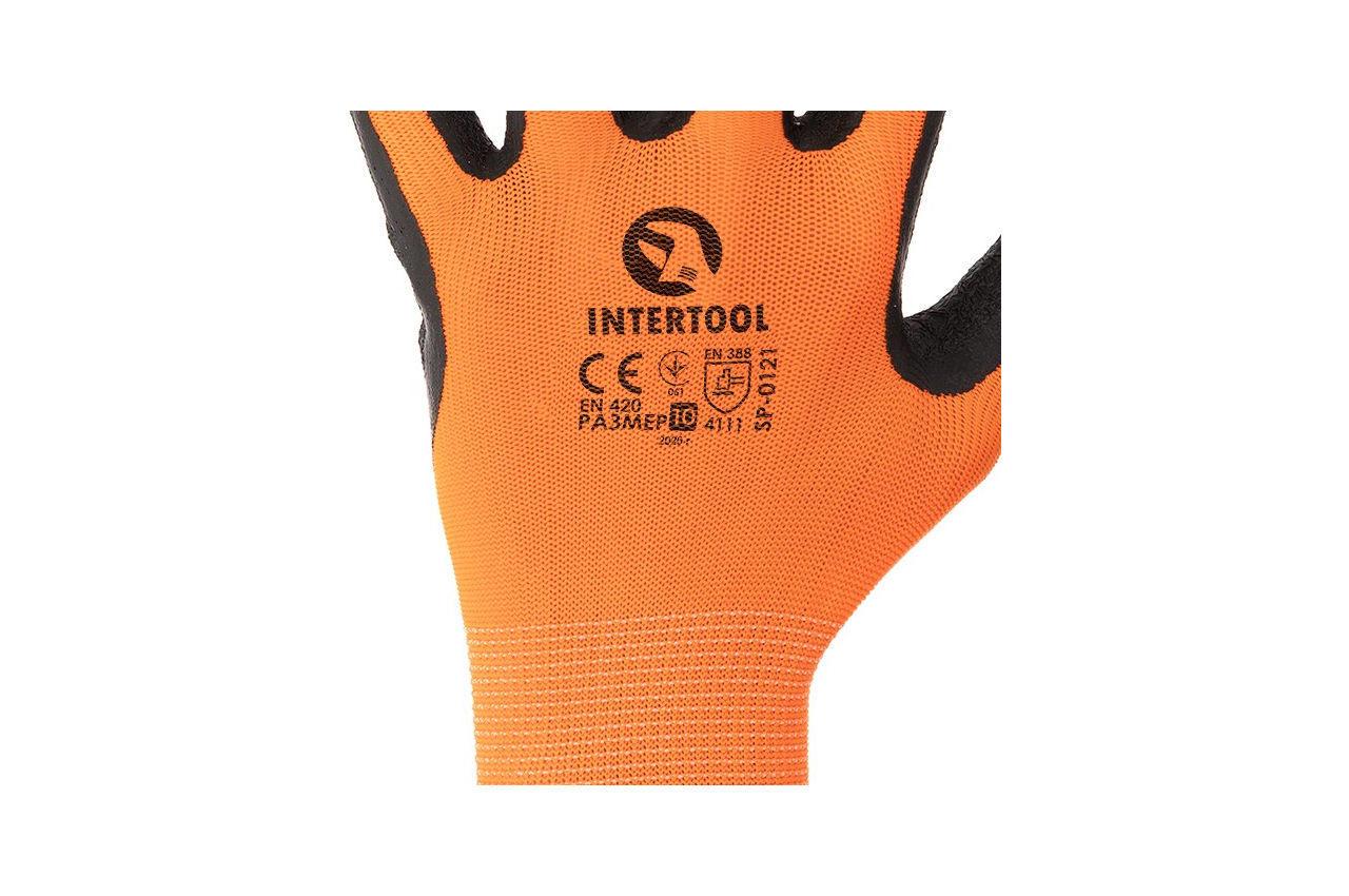 Перчатки Intertool - латексные рифленые 10 12 шт. 3