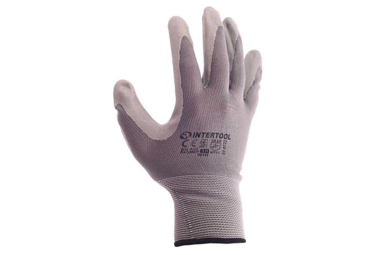 Перчатки Intertool - нитриловые 10 (серая) 3 шт. 2