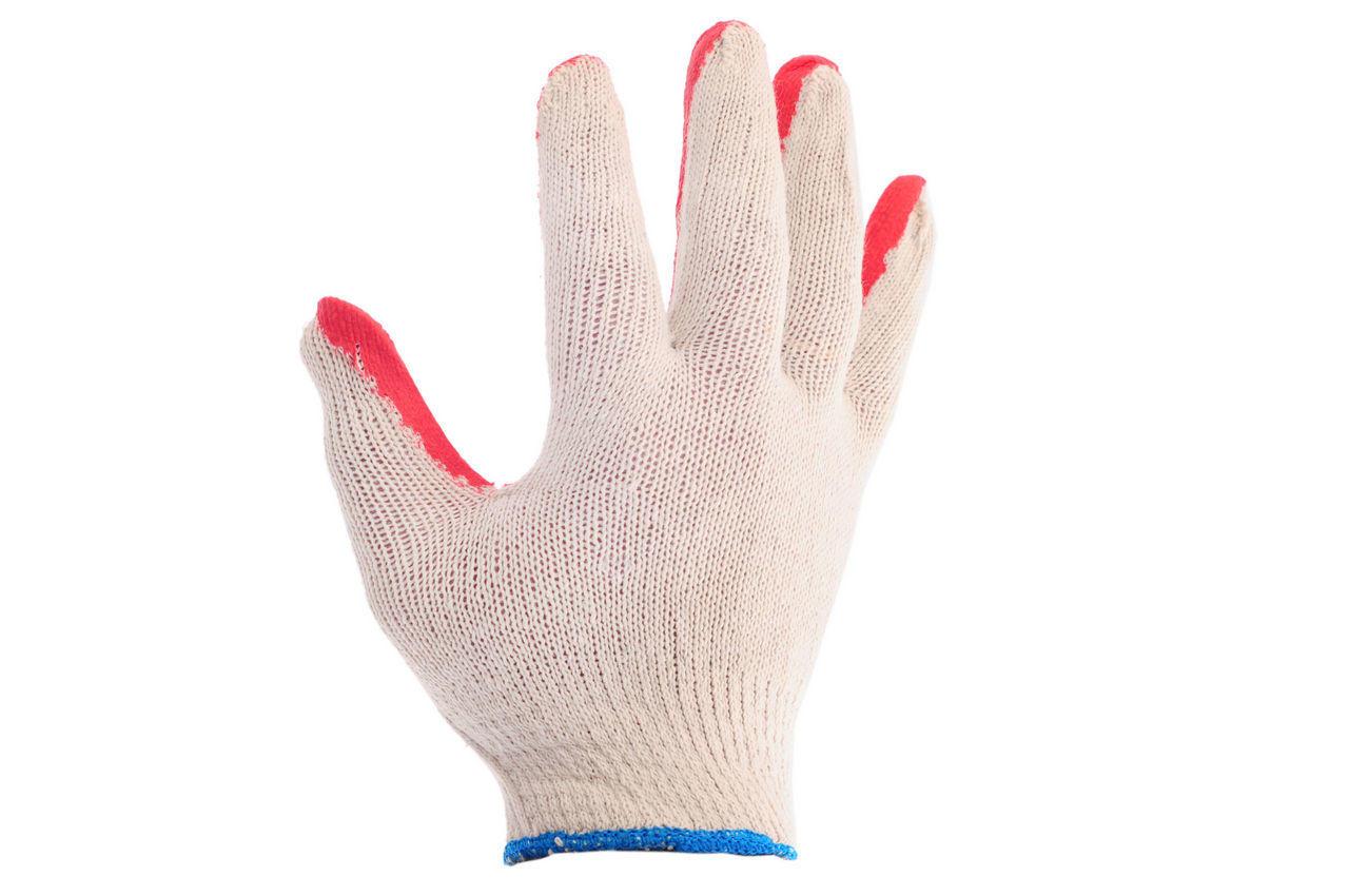 Перчатки Intertool - с латексным покрытием 8 (бело-красная) 2