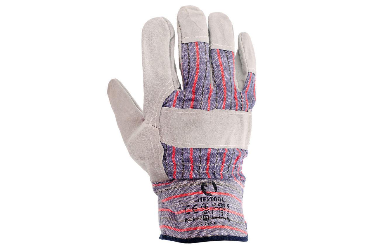 Перчатки Intertool - замшевые комбинированные 27 см х 10,5 2