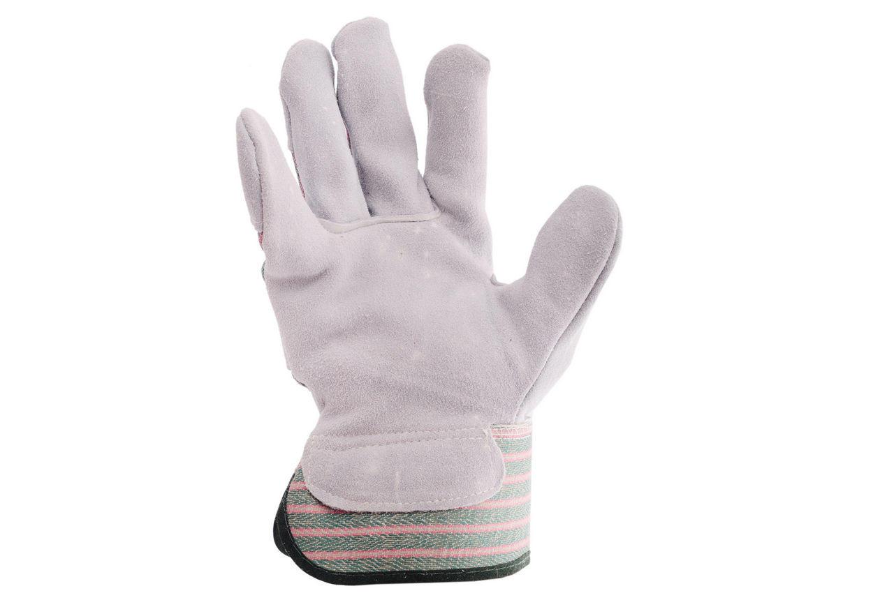 Перчатки Intertool - замшевые 10,5 (зеленая) 1