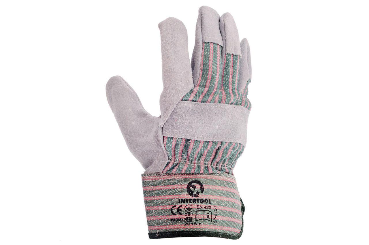 Перчатки Intertool - замшевые 10,5 (зеленая) 2