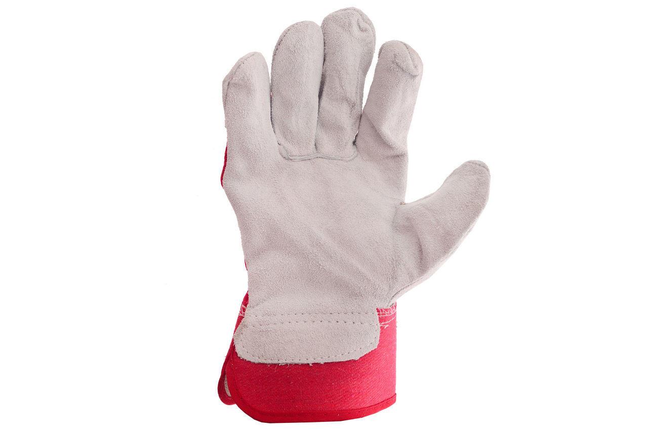 Перчатки Intertool - замшевые 10,5 (красная) 1