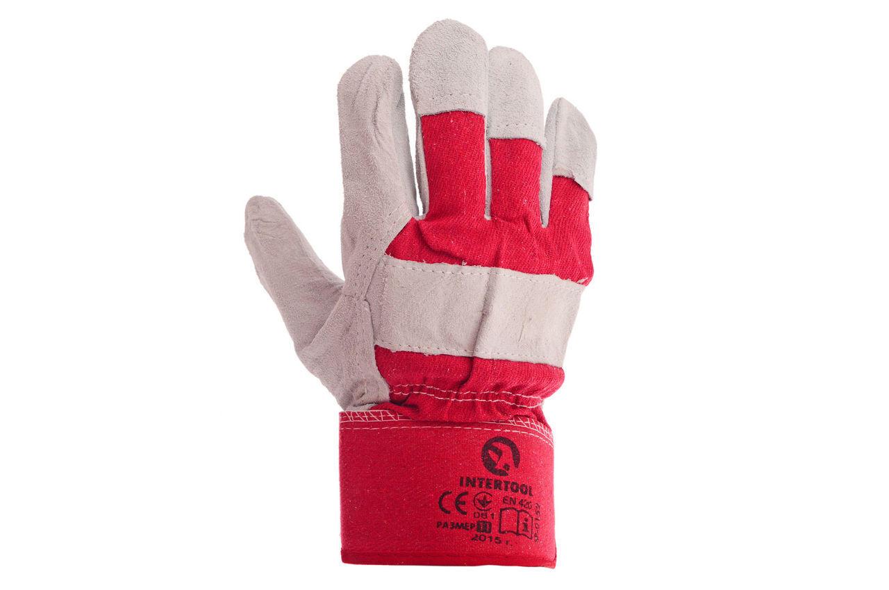 Перчатки Intertool - замшевые 10,5 (красная) 2