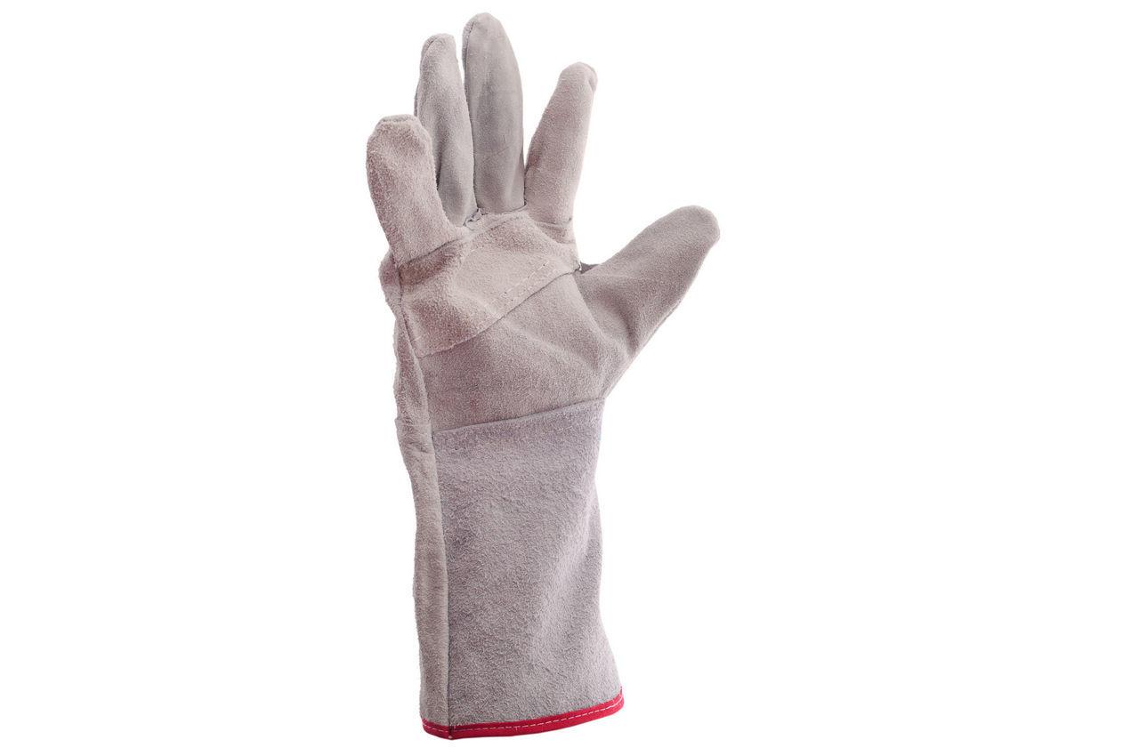 Перчатки Intertool - замшевые краги 35 см х 14 (серые) 1