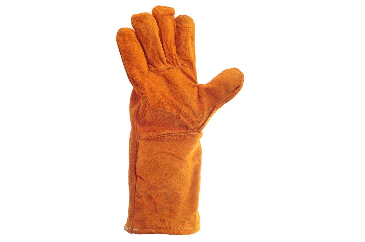 Перчатки Intertool - замшевые краги 35 см х 14 (коричневые) 1