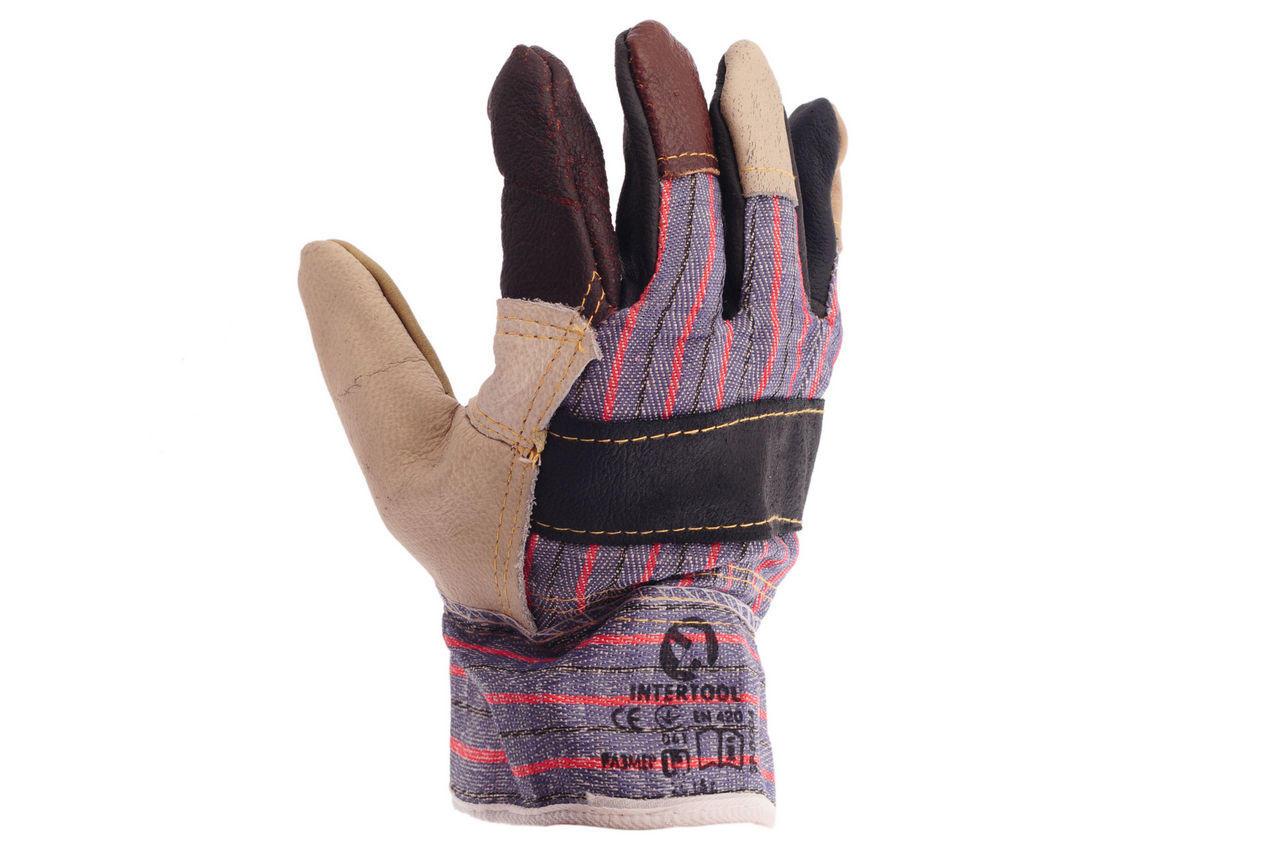 Перчатки Intertool - кожаные комбинированные 10,5 2