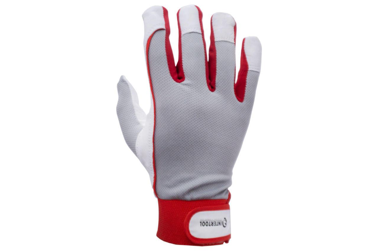 Перчатки Intertool - кожаные комбинированные утепленные 10 1