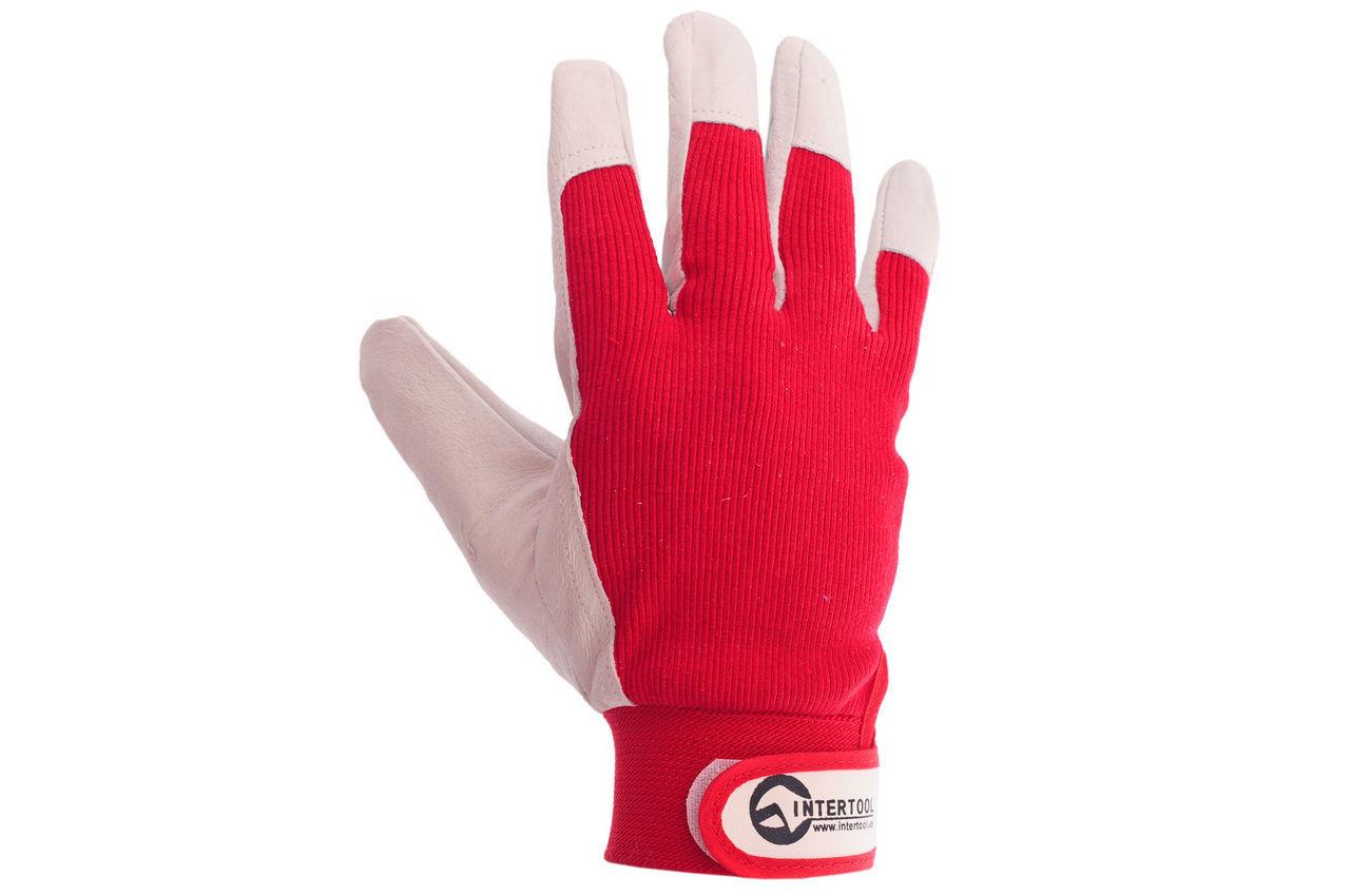 Перчатки Intertool - кожаные комбинированные 10 2