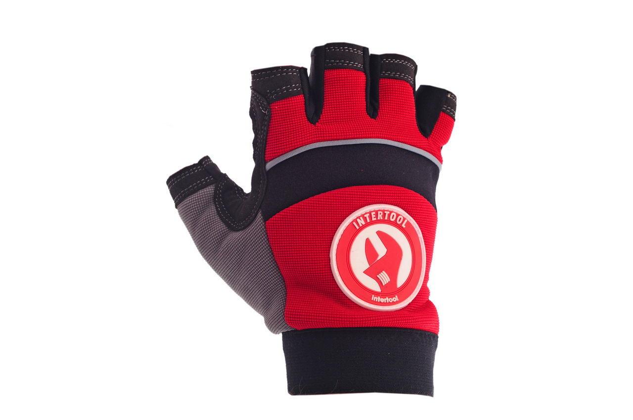 Перчатки Intertool - неопреновые комбинированные спандексом 9 (Без пальцев) 2