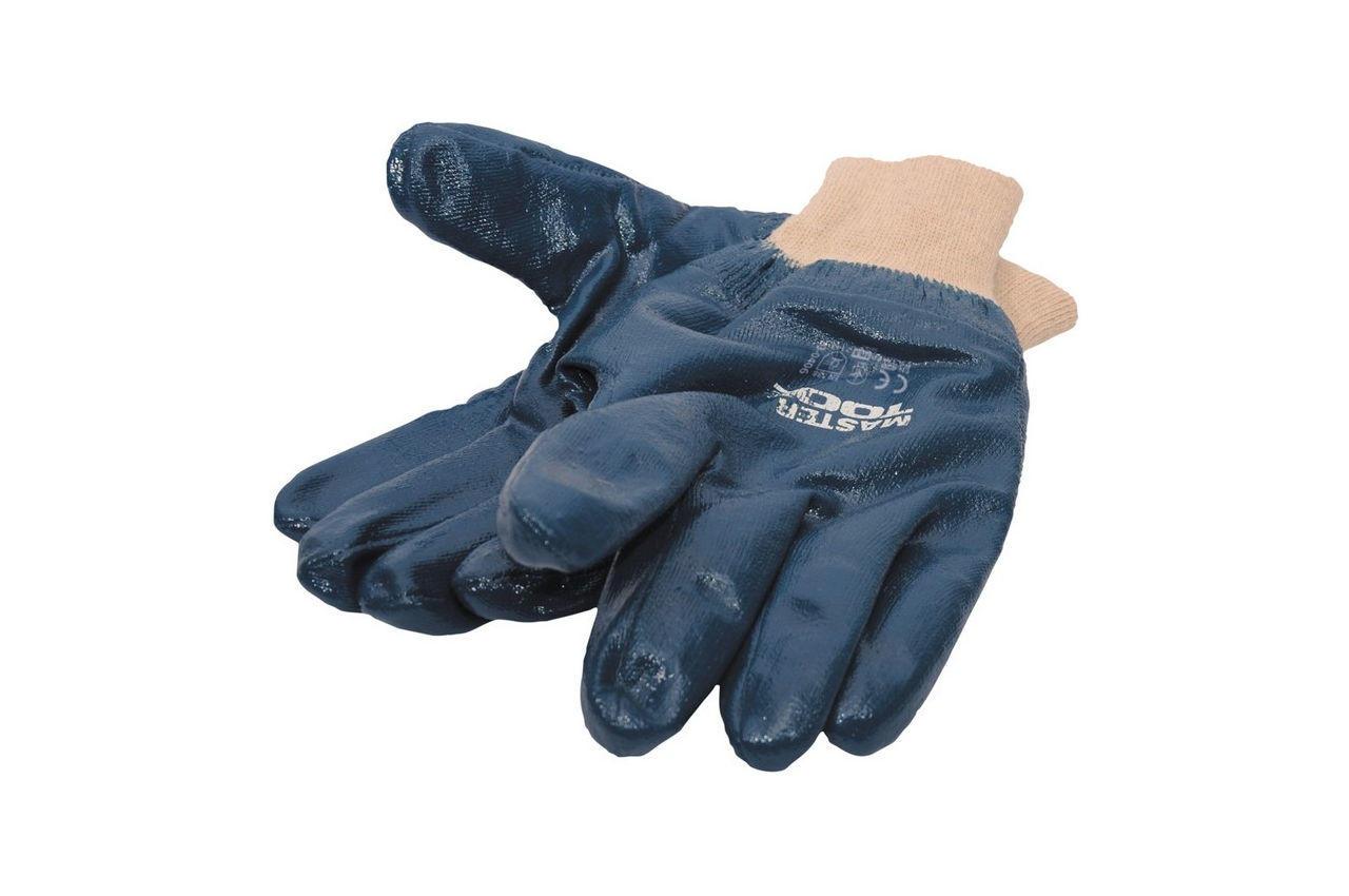 Перчатки Mastertool - масло-бензостойкие с мягким манжетом 10,5 4