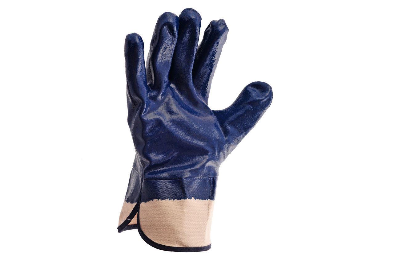Перчатки Mastertool - масло-бензостойкие с твердым манжетом 10,5 1