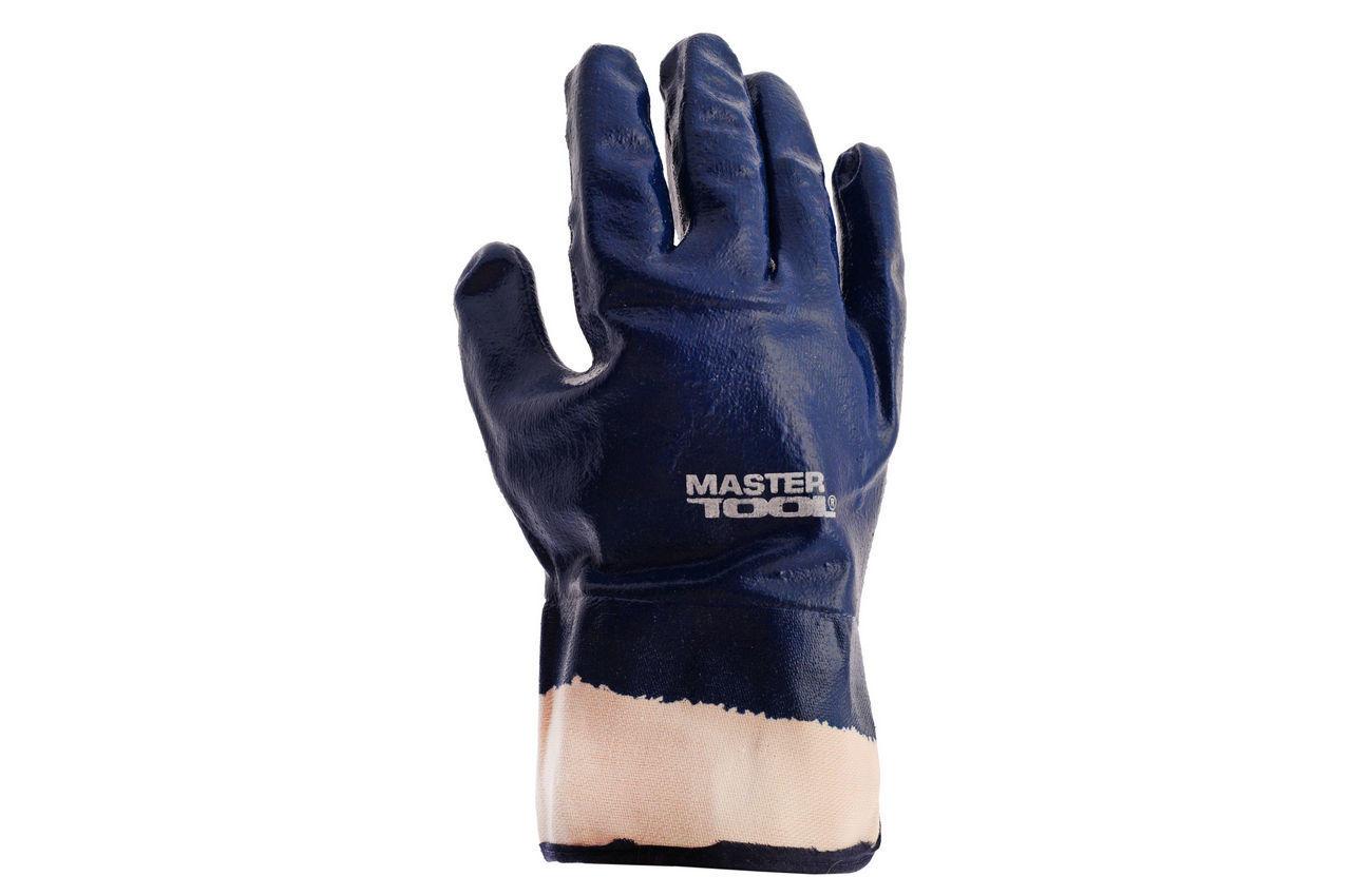 Перчатки Mastertool - масло-бензостойкие с твердым манжетом 10,5 2