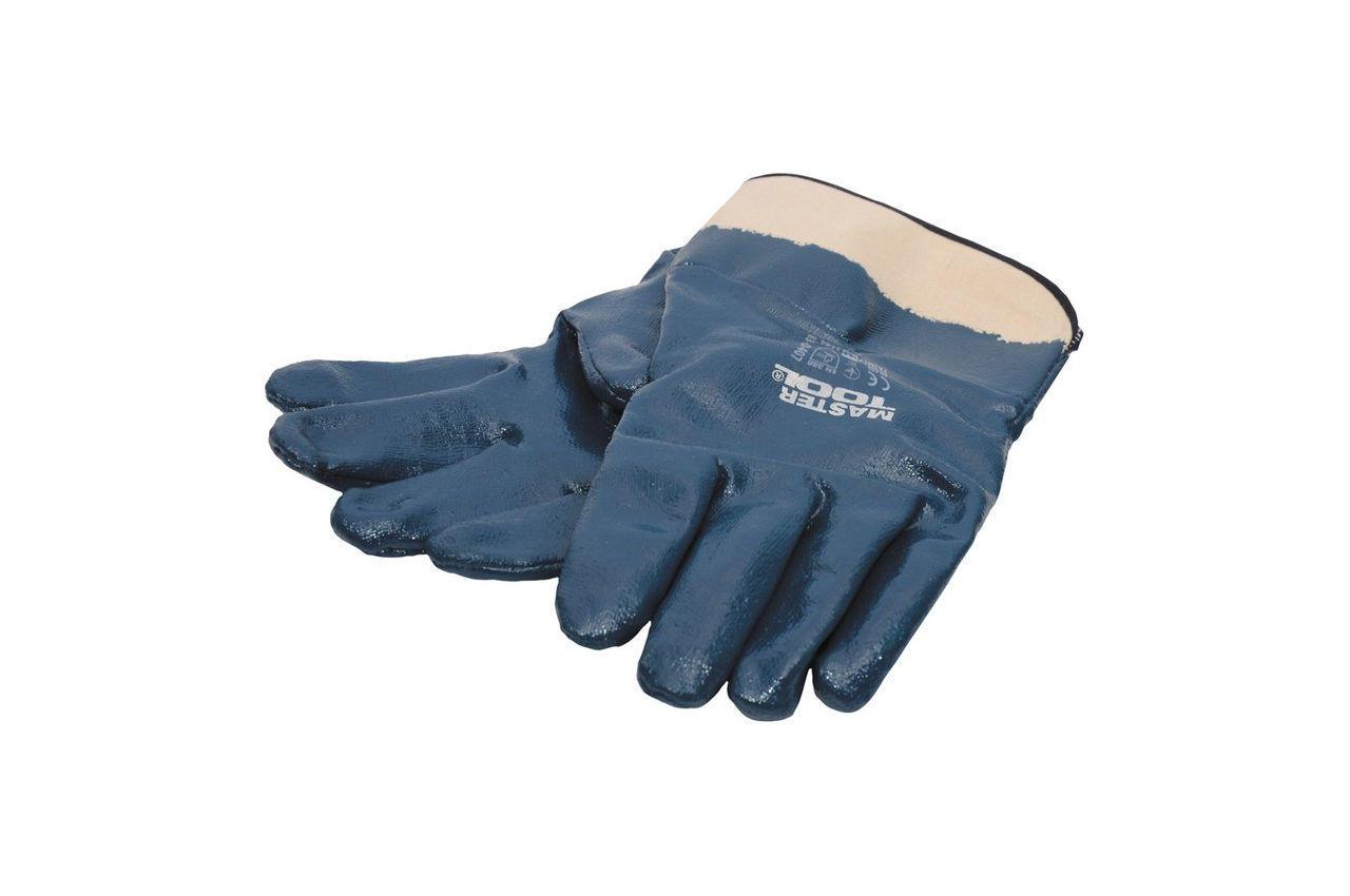 Перчатки Mastertool - масло-бензостойкие с твердым манжетом 10,5 4