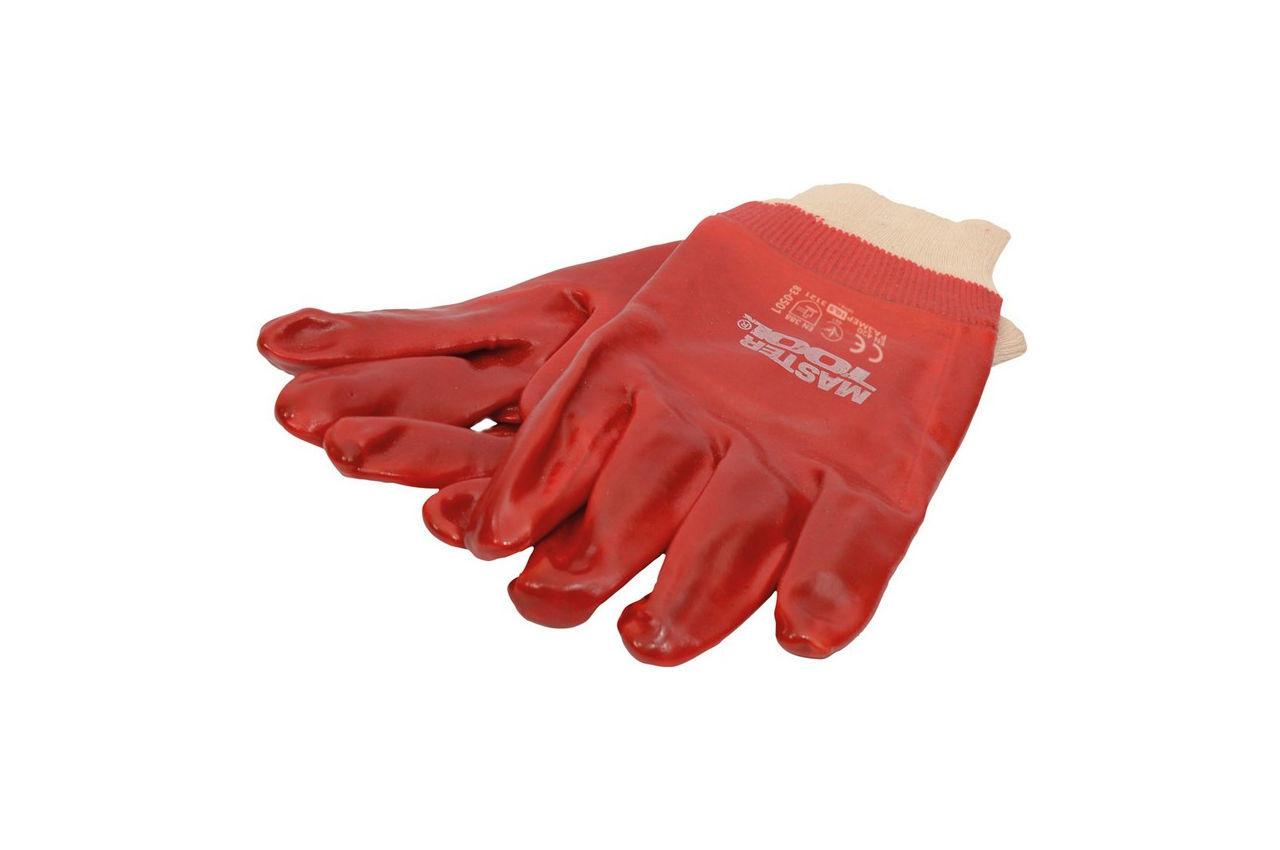 Перчатки Mastertool - масло-бензостойкая 26 см х 10,5 (красная) 4
