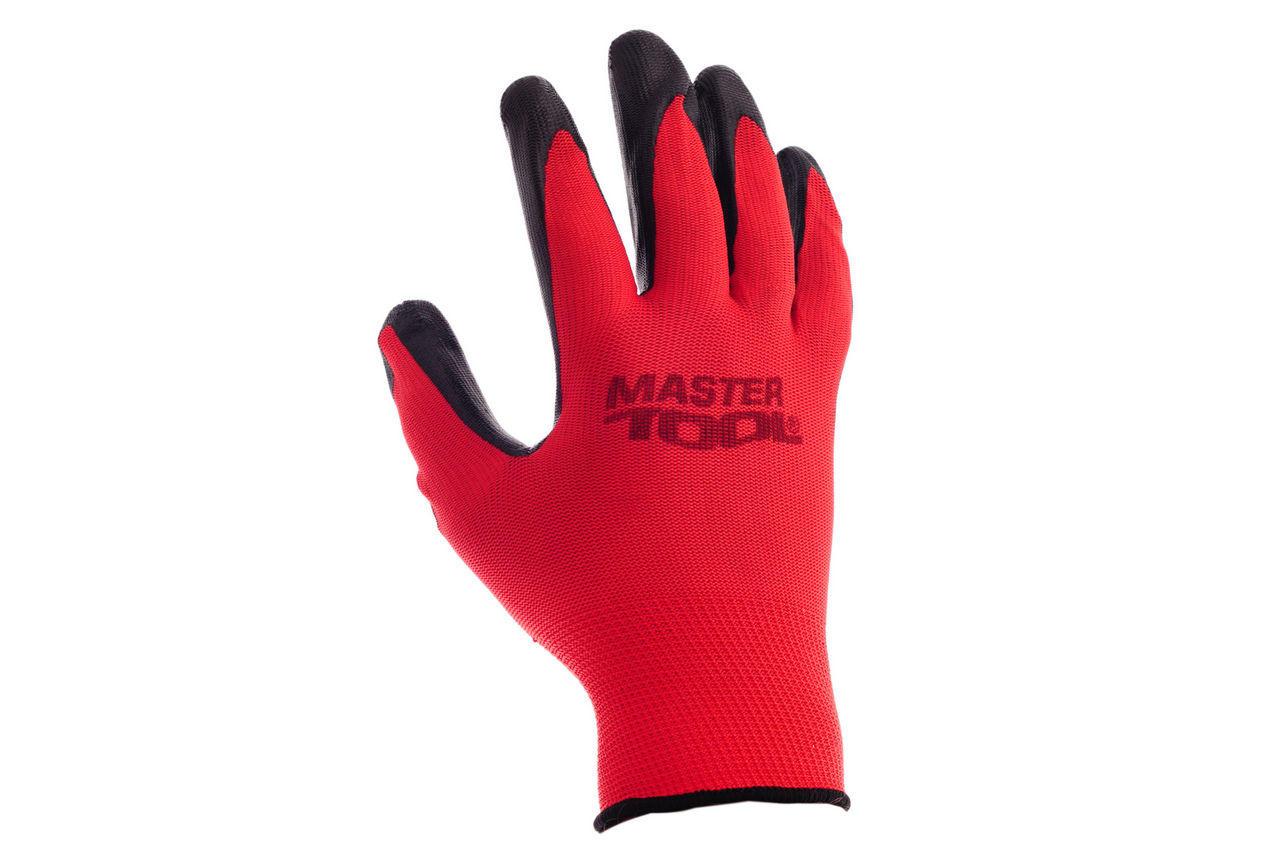 Перчатки Mastertool - с нитриловым покрытием 10 (красно-черные) 2