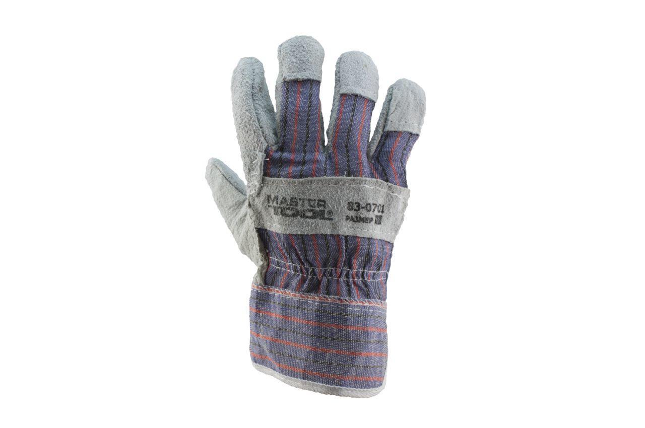 Перчатки Mastertool - замшевые комбинированные, сшивная ладонь 10,5 2