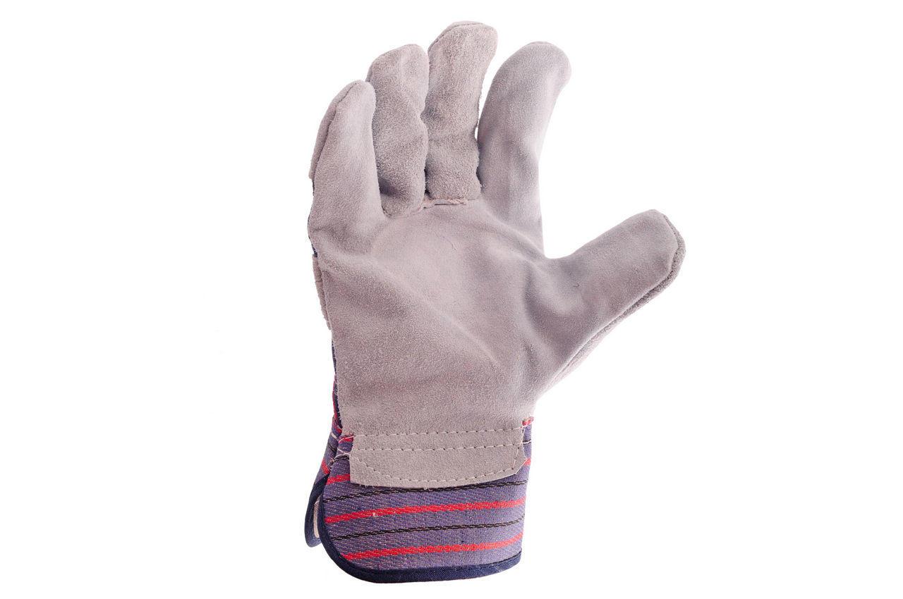 Перчатки Mastertool - замшевые комбинированные, цельная ладонь 10,5 1
