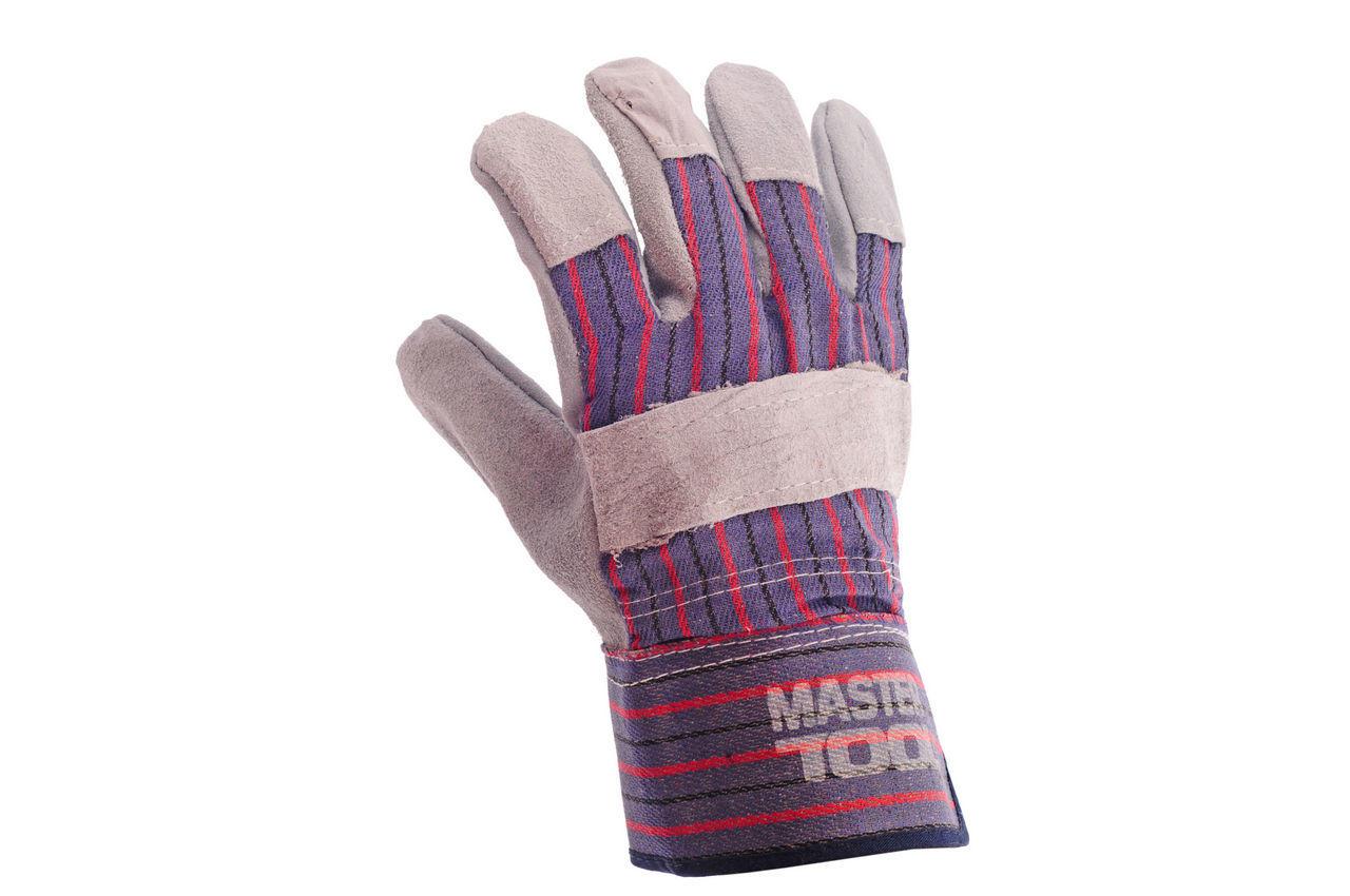 Перчатки Mastertool - замшевые комбинированные, цельная ладонь 10,5 2