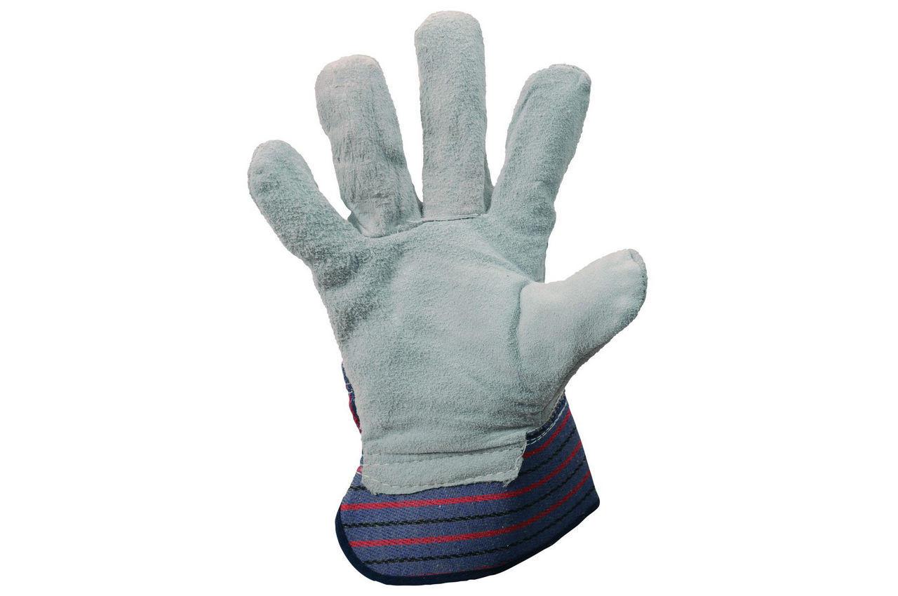 Перчатки Mastertool - замшевые комбинированные, цельная ладонь 10,5 4