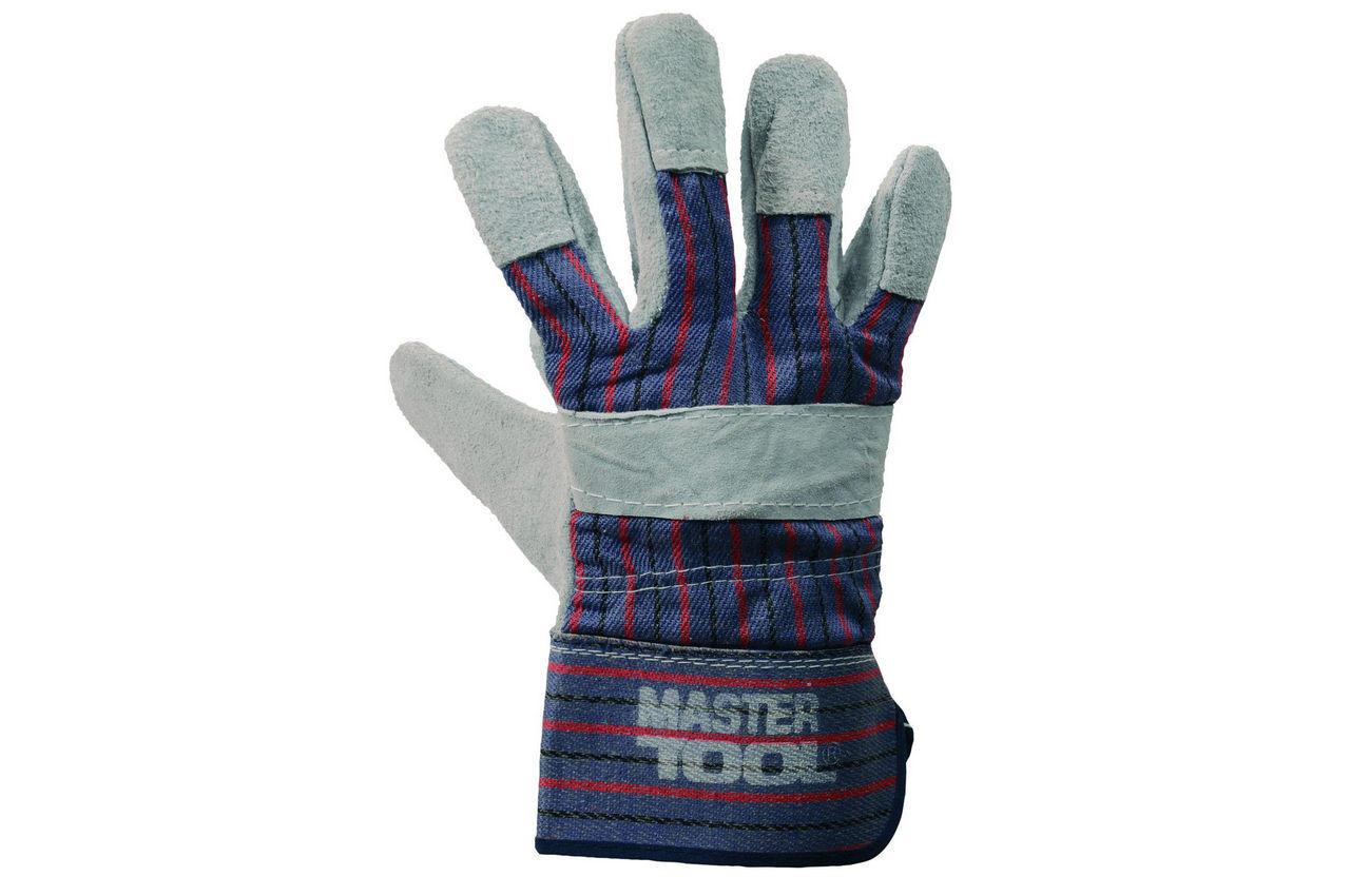 Перчатки Mastertool - замшевые комбинированные, цельная ладонь 10,5 5