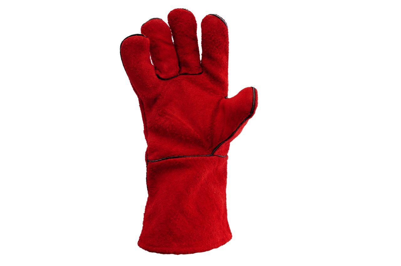 Перчатки Mastertool - замшевые краги 35 см х 14 (красные) 1