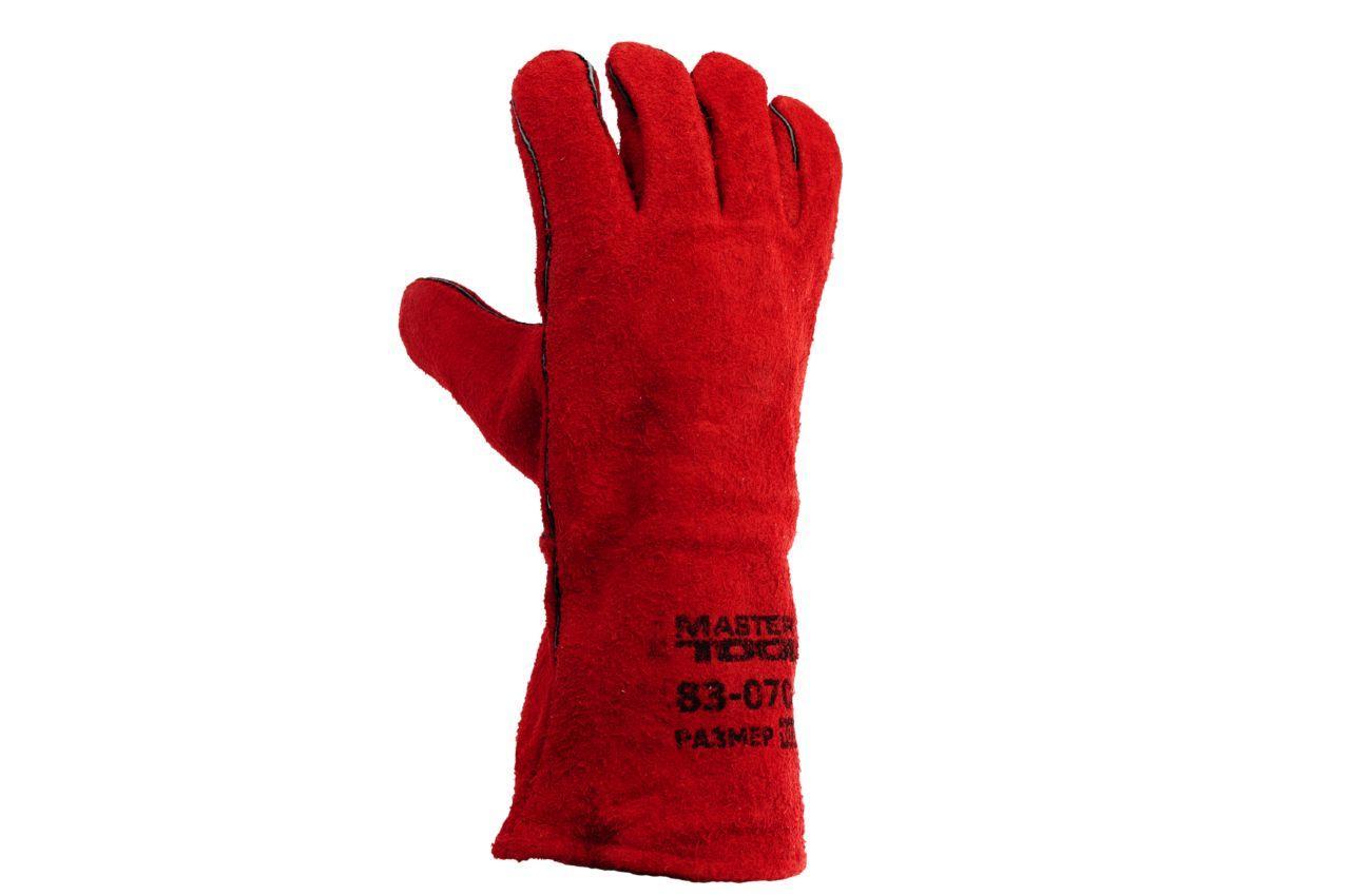 Перчатки Mastertool - замшевые краги 35 см х 14 (красные) 2