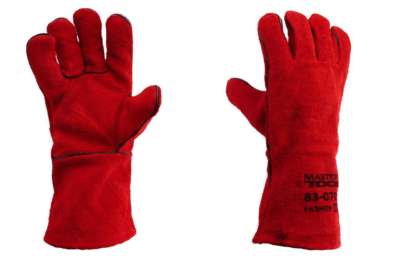 Перчатки Mastertool - замшевые краги 35 см х 14 (красные) 3
