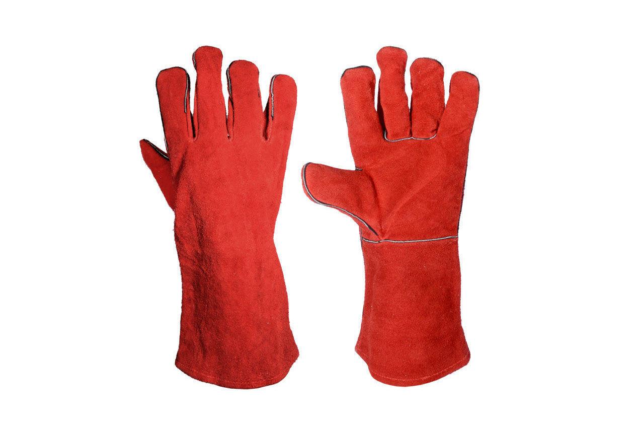 Перчатки Mastertool - замшевые краги 35 см х 14 (красные) 4