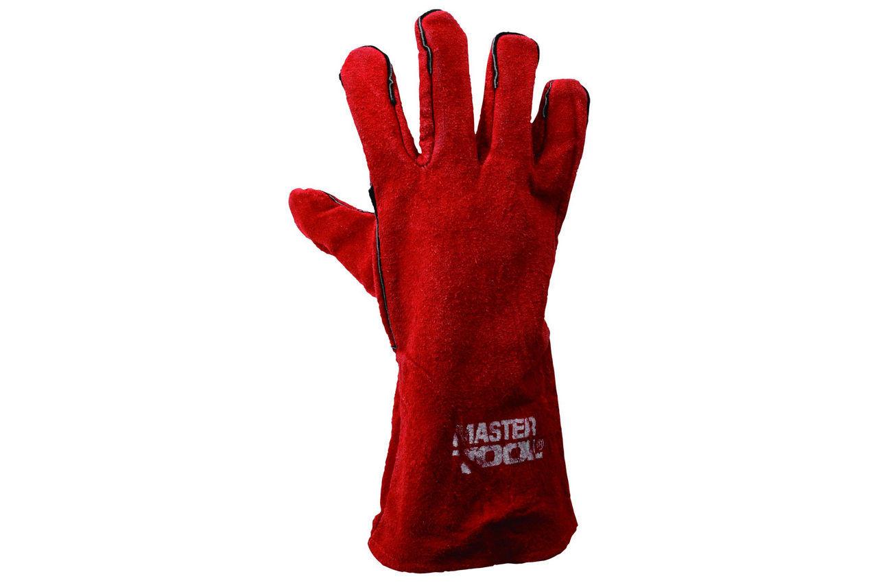 Перчатки Mastertool - замшевые краги 35 см х 14 (красные) 5