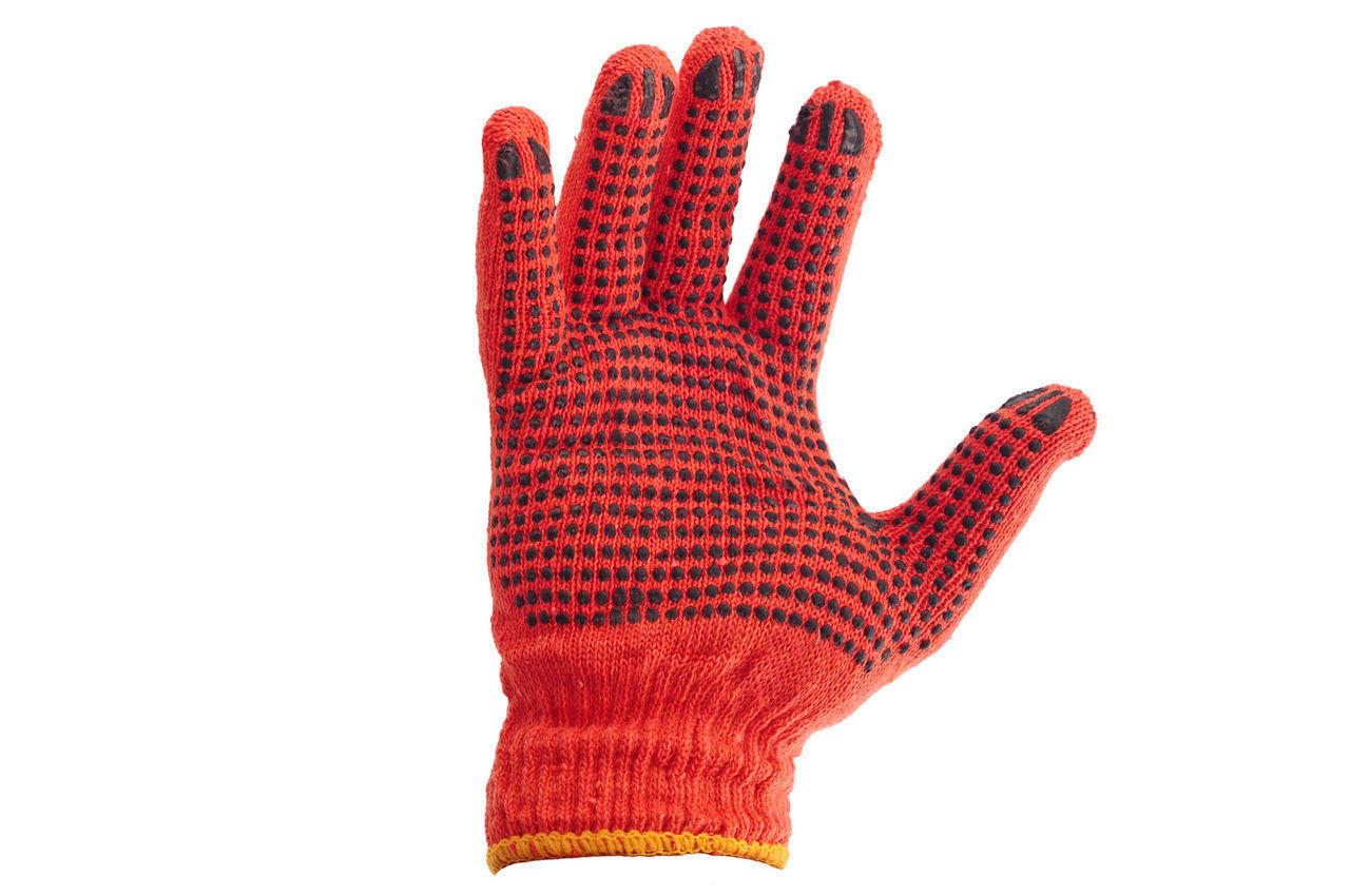 Перчатки PRC - оранжевая с точкой 10 1