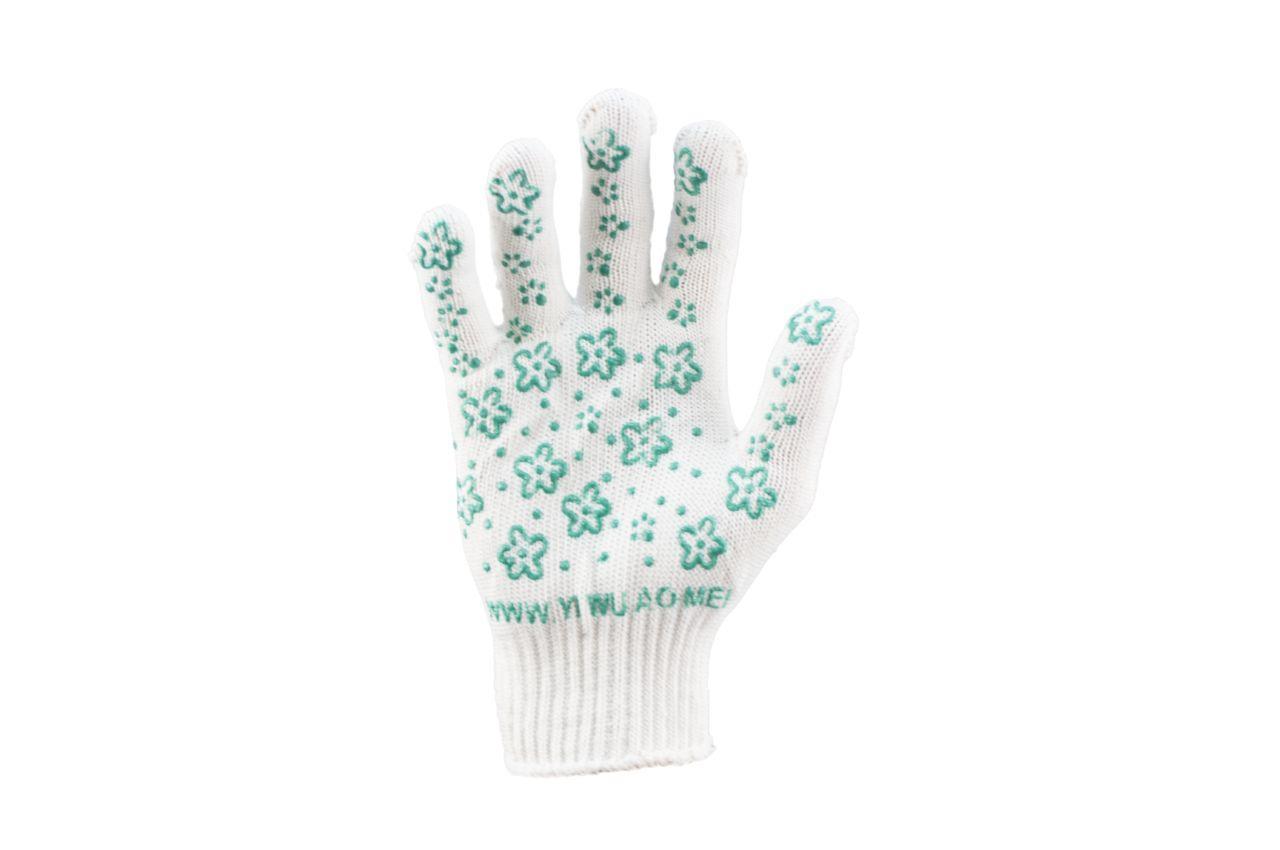 Перчатки PRC - цветок зеленый 9 1