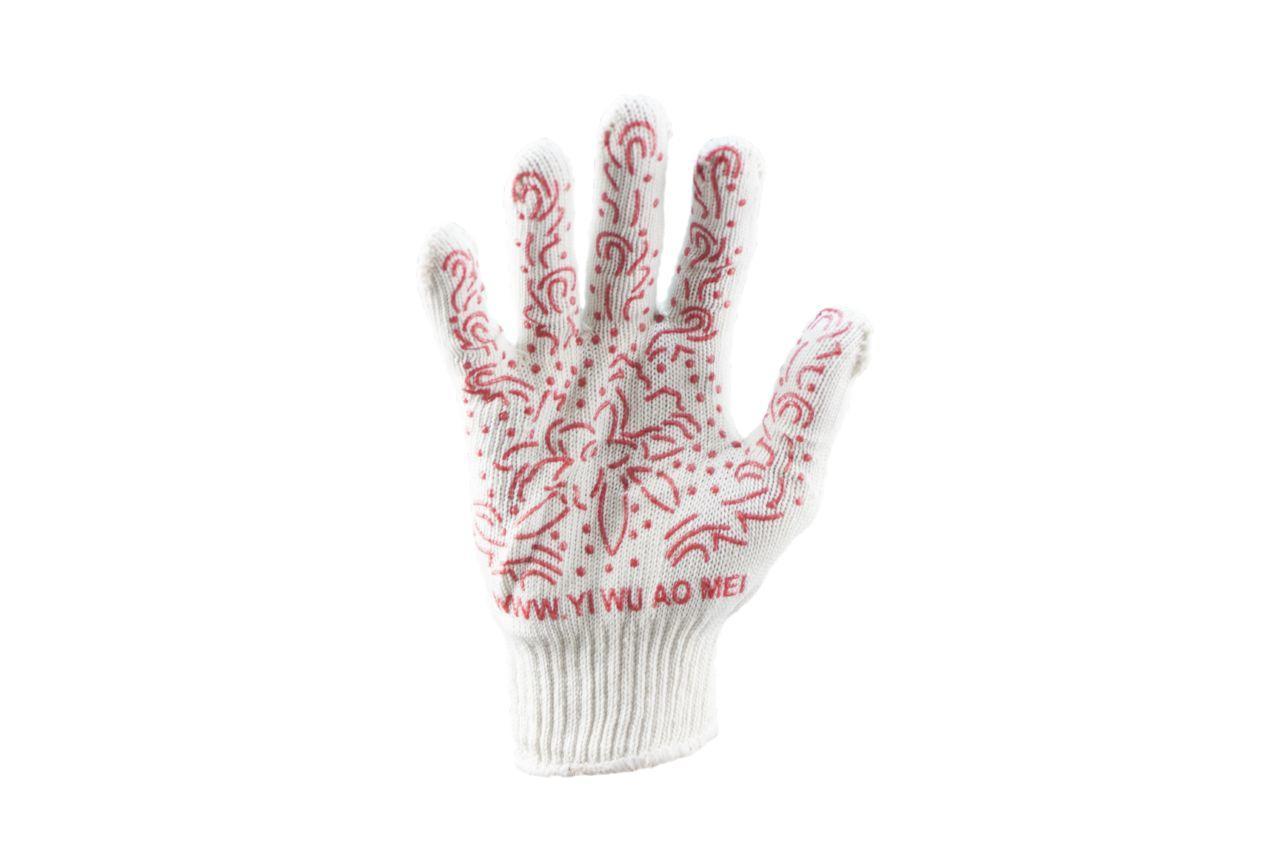 Перчатки PRC - цветок бордовый 9 1