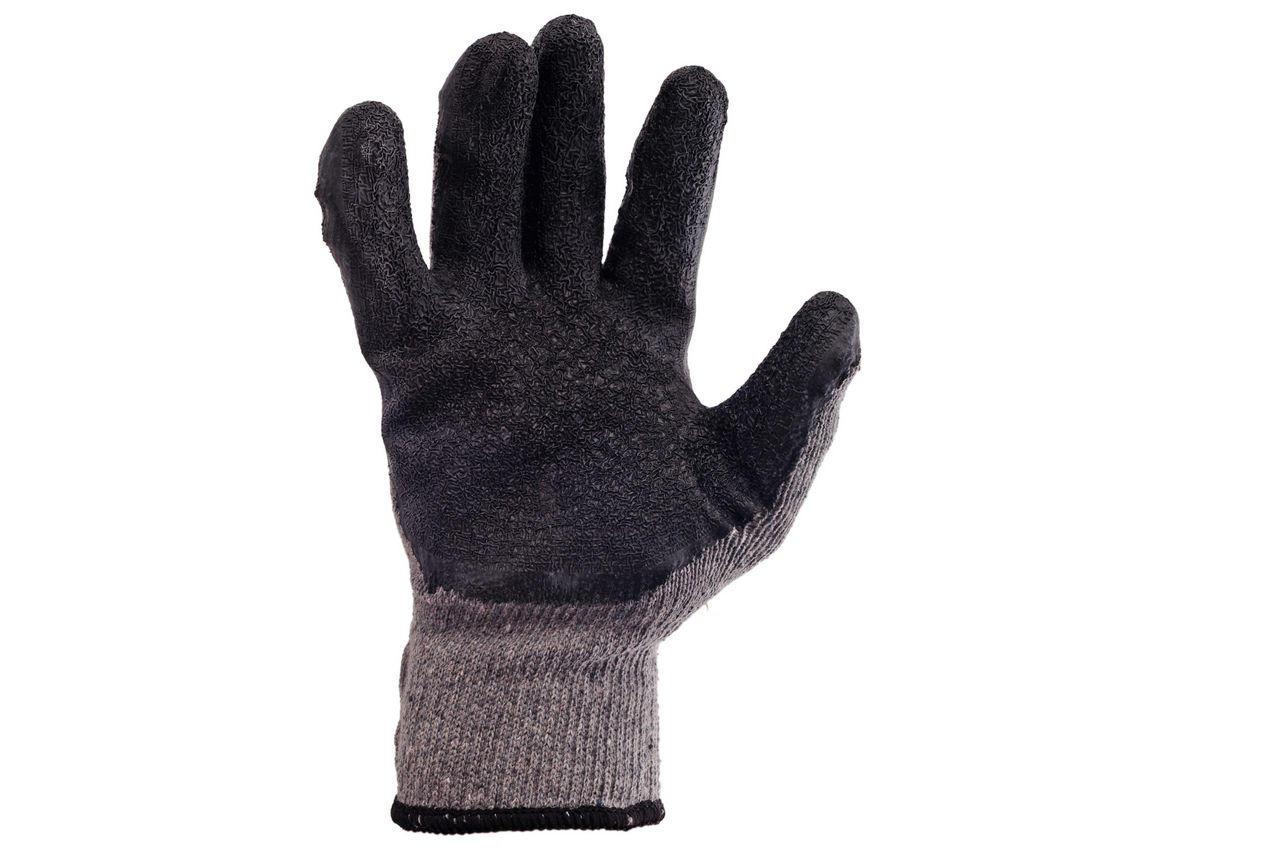 Перчатки PRC - ребристая латексная заливка 10 1