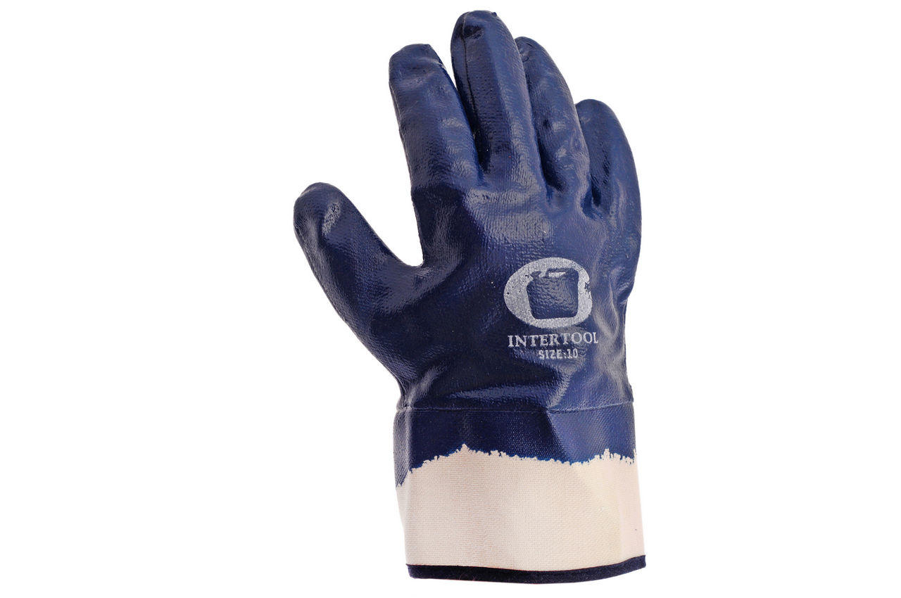 Перчатки PRC Канистра - масло-бензостойкие с твердым манжетом 10 (щелочные) 2