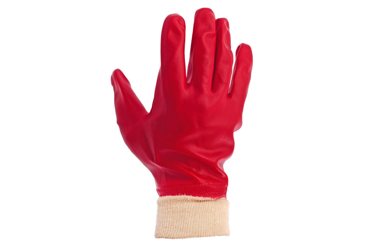 Перчатки PRC - масло-бензостойкая 26 см х 10,5 (красная) 2