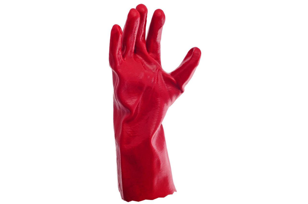 Перчатки PRC - масло-бензостойкая 35 см х 14 (красная) 1
