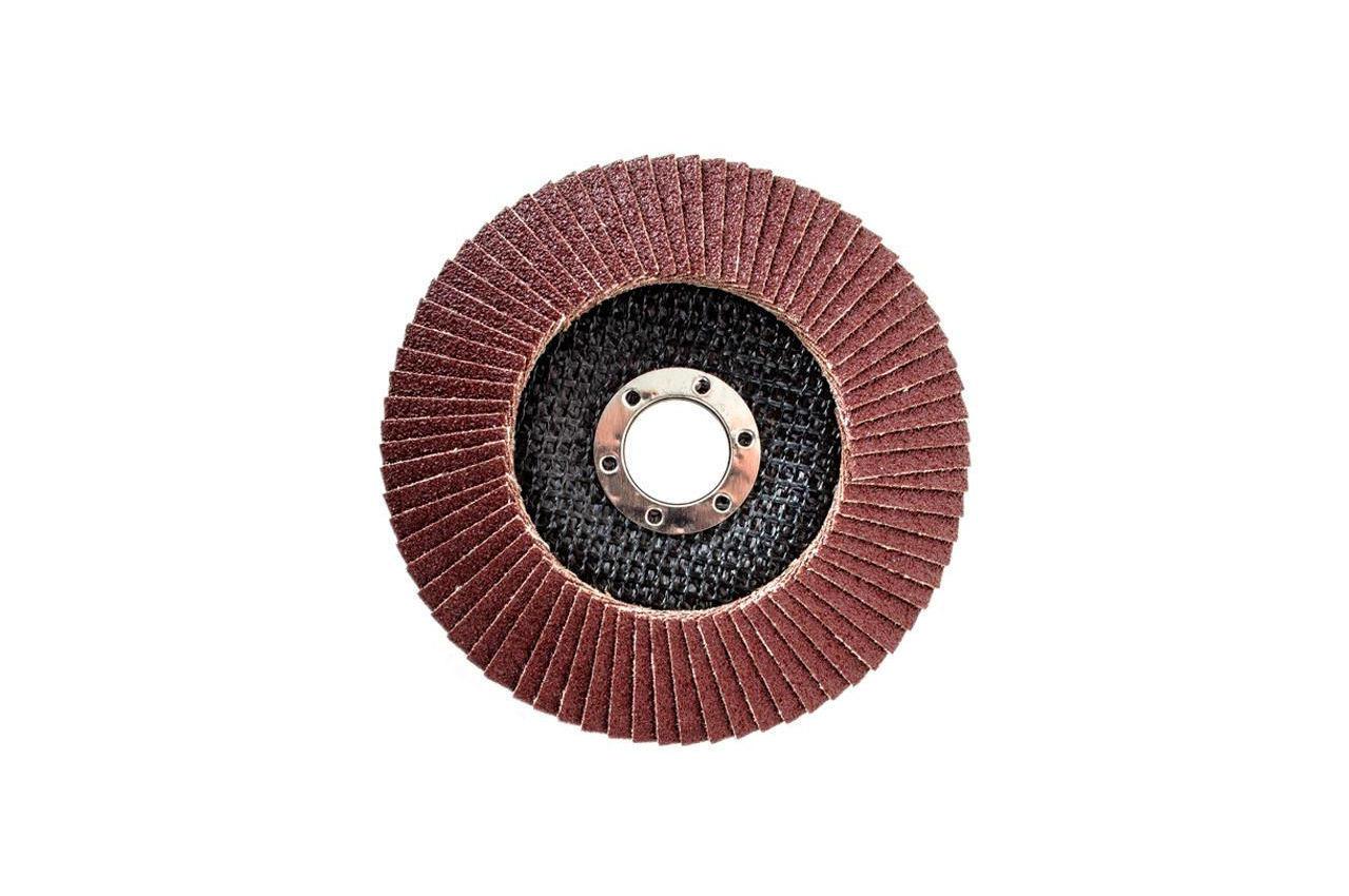 Круг лепестковый торцевой Intertool - 125 мм Р80 4
