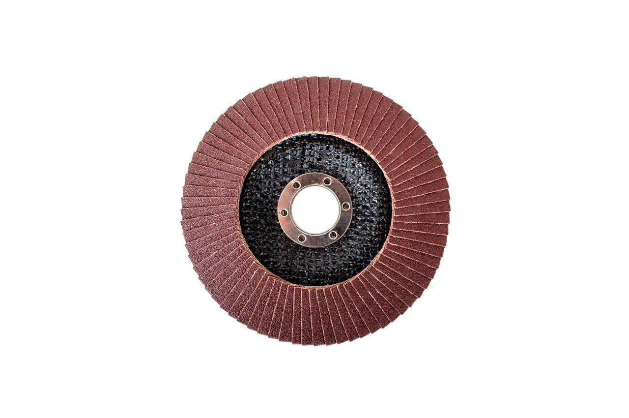 Круг лепестковый торцевой Intertool - 125 мм Р100 4
