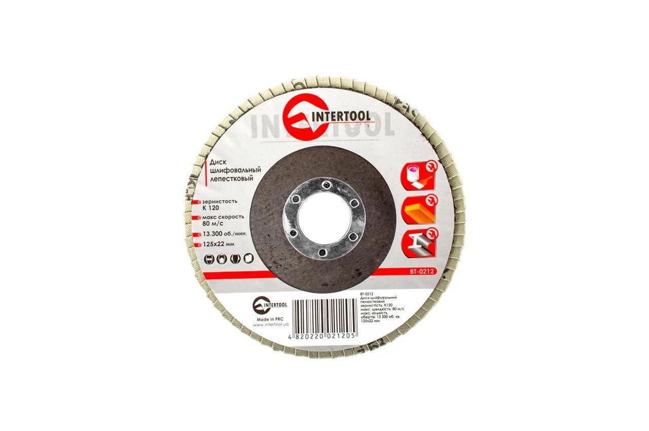 Круг лепестковый торцевой Intertool - 125 мм Р120 3