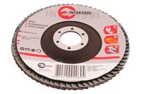 Круг лепестковый торцевой Intertool - 125 мм Р150