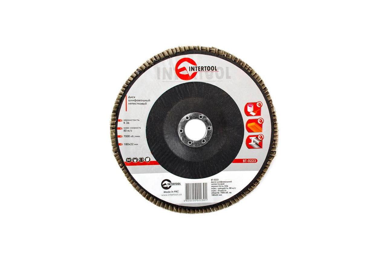Круг лепестковый торцевой Intertool - 180 мм Р36 3