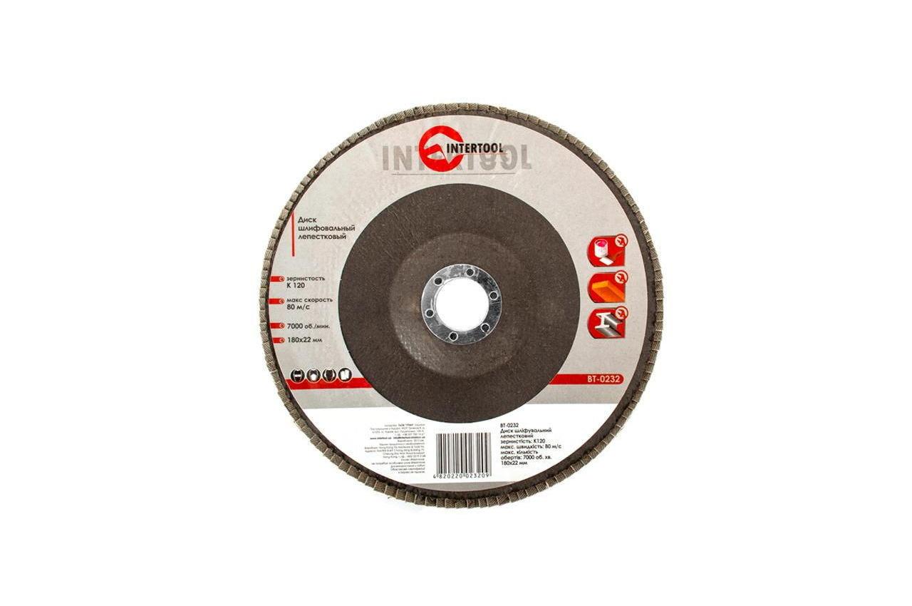 Круг лепестковый торцевой Intertool - 180 мм Р120 3
